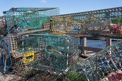 Συσσωρευμένες παγίδες αστακών Στοκ εικόνες με δικαίωμα ελεύθερης χρήσης