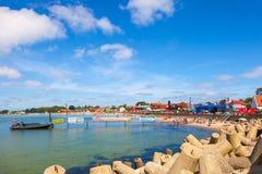 Συσσωρευμένη αμμώδης παραλία Στοκ Εικόνα