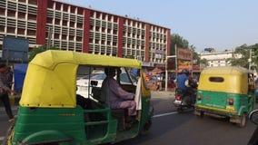 Συσσωρευμένη κυκλοφορία του Δελχί απόθεμα βίντεο