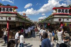 Συσσωρευμένη οδός αγοράς Στοκ Εικόνες