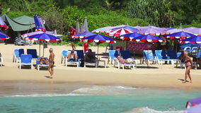 Συσσωρευμένη παραλία απόθεμα βίντεο