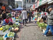 Συσσωρευμένη φυτική αγορά της Κίνας 12 Στοκ Φωτογραφίες