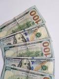 συσσωρευμένοι λογαριασμοί 100 δολαρίων στοκ εικόνα
