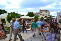 Συσσωρευμένος κεντρικός δρόμος, Plovdiv Βουλγαρία Στοκ Εικόνα