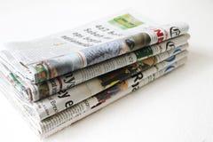 Συσσωρευμένος της εφημερίδας στοκ φωτογραφία με δικαίωμα ελεύθερης χρήσης