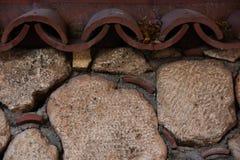 Συσσωρευμένος τοίχος πετρών στοκ φωτογραφίες με δικαίωμα ελεύθερης χρήσης