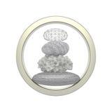Συσσωρευμένος χρονικός κύκλος kalpa πετρών απεικόνιση αποθεμάτων