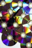 Συσσωρευμένος dvds στοκ εικόνες με δικαίωμα ελεύθερης χρήσης