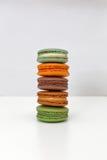 Συσσωρευμένος macarons Στοκ Εικόνες