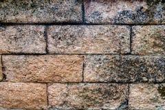 Συσσωρευμένο εξωτερικό υπόβαθρο τοίχων πετρών τούβλου Στοκ Φωτογραφίες