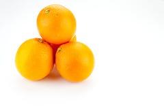 Συσσωρευμένο επάνω πορτοκάλι Στοκ Φωτογραφία