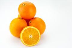 Συσσωρευμένο επάνω πορτοκάλι Στοκ Εικόνες