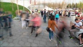 Συσσωρευμένο πάρκο πόλεων timelapse απόθεμα βίντεο