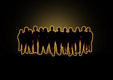 συσσωρεύστε την πυράκτω&si Στοκ Εικόνα