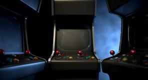 Συσσώρευση ομάδας μηχανών Arcade Στοκ φωτογραφία με δικαίωμα ελεύθερης χρήσης