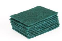 Συσσώρευση των μαξιλαριών καθαρισμού για τον καθαρισμό κουζινών Στοκ εικόνα με δικαίωμα ελεύθερης χρήσης