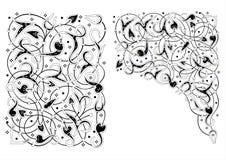 Συστάσεις με την ασιατική floral διακόσμηση 2 Στοκ φωτογραφία με δικαίωμα ελεύθερης χρήσης