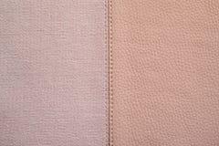 Συστάσεις του ρόδινου χρώματος από το ύφασμα και το δέρμα Στοκ Φωτογραφίες