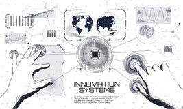 Συστήματα καινοτομιών που συνδέουν τους ανθρώπους και τις συσκευές ρομπότ απεικόνιση αποθεμάτων