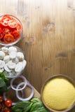 Συστατικά γευμάτων Polenta Στοκ Φωτογραφίες