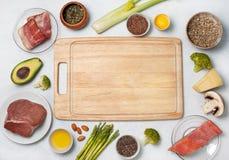 Συστατικά για την κετονογενετική διατροφή στοκ φωτογραφίες με δικαίωμα ελεύθερης χρήσης