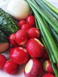 Συστατικά για τη σαλάτα στοκ εικόνες