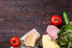Συστατικά για το σάντουιτς Στοκ Φωτογραφίες