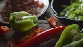 Συστατικά για το fajita Μεξικάνικο βίντεο τροφίμων φιλμ μικρού μήκους