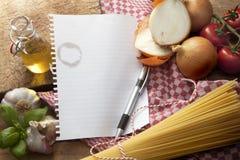 Συστατικά: Ιταλικά τρόφιμα Στοκ φωτογραφία με δικαίωμα ελεύθερης χρήσης
