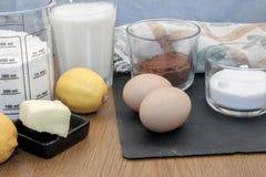 Συστατικά κέικ Στοκ Εικόνες