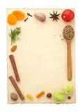 Συστατικά και συνταγή τροφίμων pape Στοκ φωτογραφία με δικαίωμα ελεύθερης χρήσης