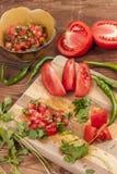 Συστατικά που χρησιμοποιούνται για να κάνουν το salsa Στοκ φωτογραφίες με δικαίωμα ελεύθερης χρήσης