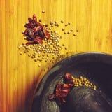 Συστατικά στα ταϊλανδικά τρόφιμα Στοκ Εικόνες