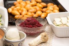 Συστατικά τροφίμων για ένα καλό και υγιές γεύμα Στοκ εικόνες με δικαίωμα ελεύθερης χρήσης