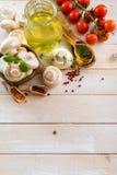 Συστατικά τροφίμων για το μαγείρεμα των χορτοφάγων τροφίμων Στοκ Φωτογραφία