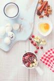 Συστατικά των βακκίνιων και κέικ της Apple Στοκ φωτογραφίες με δικαίωμα ελεύθερης χρήσης