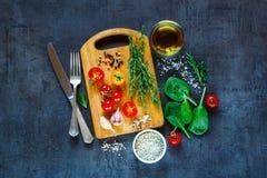 Συστατικά φρέσκων λαχανικών στοκ εικόνες