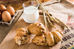 Συστατικά ψωμιού Στοκ Εικόνα