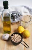 συστατικά hummus Στοκ Εικόνες