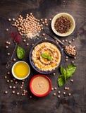 Συστατικά Hummus Στοκ εικόνα με δικαίωμα ελεύθερης χρήσης