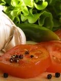 συστατικά IV σαλάτα Στοκ Εικόνες