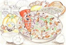 συστατικά wok Στοκ Εικόνα