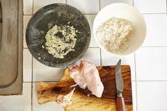 Συστατικό για το κουάκερ κοτόπουλου Στοκ φωτογραφία με δικαίωμα ελεύθερης χρήσης