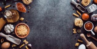 Συστατικό ζυμαρικών και τροφίμων στοκ εικόνες