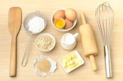 Συστατικό και συνταγή τροφίμων για την υποστήριξη Στοκ Εικόνα