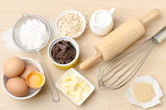 Συστατικό και συνταγή τροφίμων για την υποστήριξη Στοκ φωτογραφία με δικαίωμα ελεύθερης χρήσης