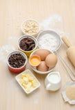 Συστατικό και συνταγή τροφίμων για την υποστήριξη Στοκ Εικόνες