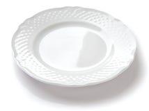 Συστατικό σύνθεσης cousine τροφίμων για την κατανάλωση του πιάτου κεραμικού Στοκ Εικόνες
