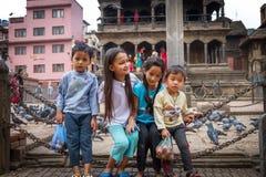 Συστολή των παιδιών Nepali Στοκ φωτογραφία με δικαίωμα ελεύθερης χρήσης