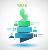 Συστροφή βελών μέχρι τις επιλογές αριθμού επιτυχίας απεικόνιση αποθεμάτων